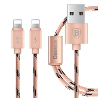 Кабель Baseus Portman 2-в-1 Lightning USB Cable 1.2 м Rose Gold для Apple IPhone/IPad/IPod